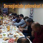 Derneğimizde geleneksel iftar yemeği